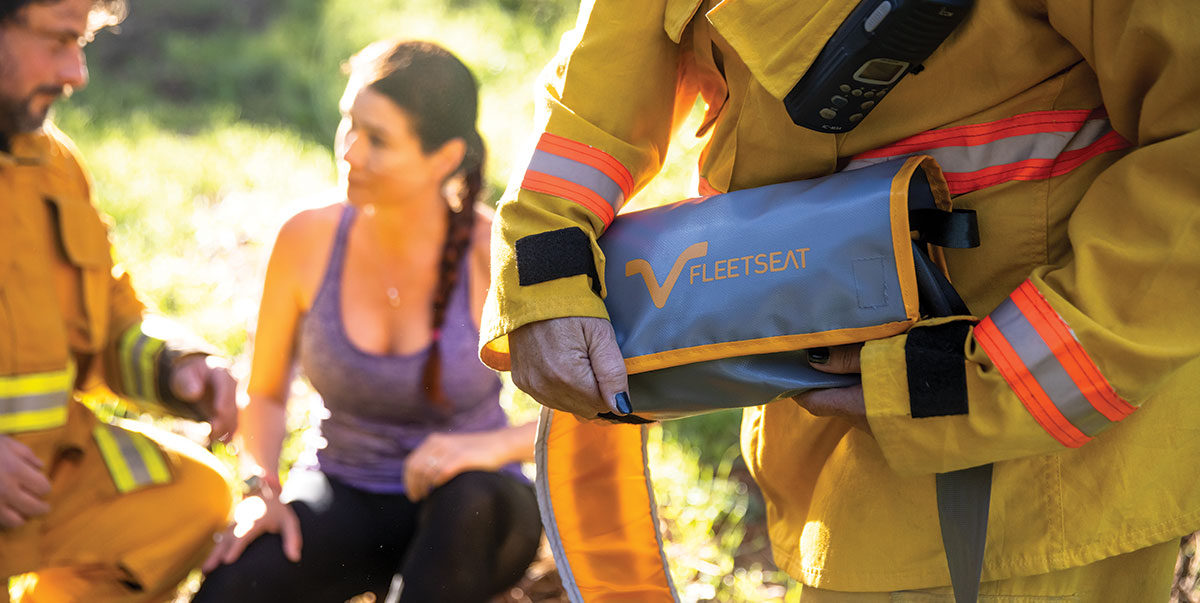 emergency safety harness designed to be portable
