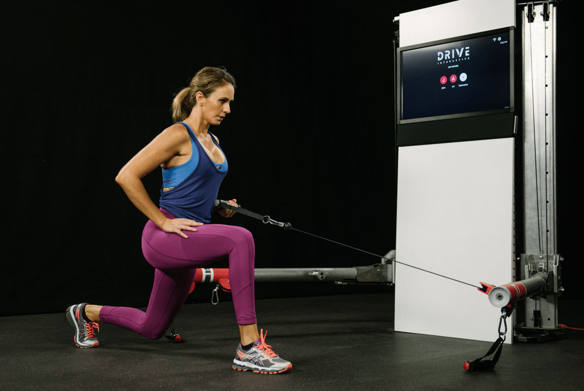 flexline drive trainer engineered by outerspace design for in home fitness